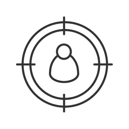 Personal, das lineares Symbol sucht Standard-Bild - 87947795