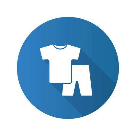 Nightwear flat design long shadow glyph icon