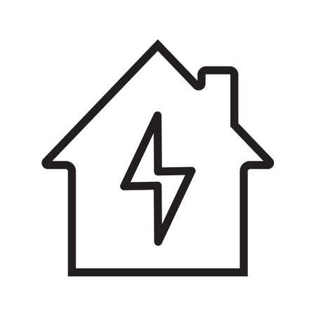 Home electrification linear icon