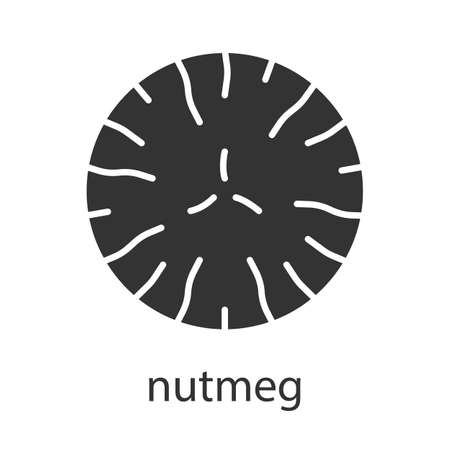 Nutmeg glyph icon Illustration