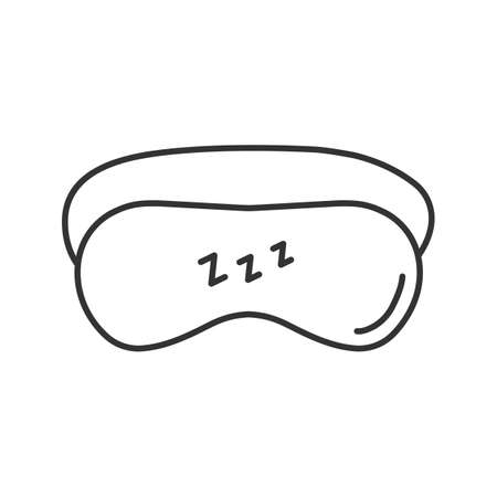 Sleeping mask linear icon