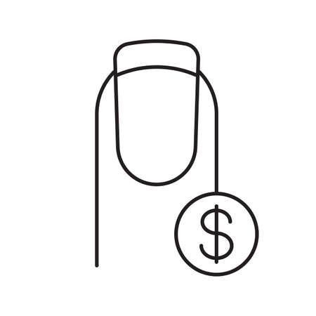 I prezzi dei servizi per il salone del chiodo sono icone lineari Archivio Fotografico - 87948366