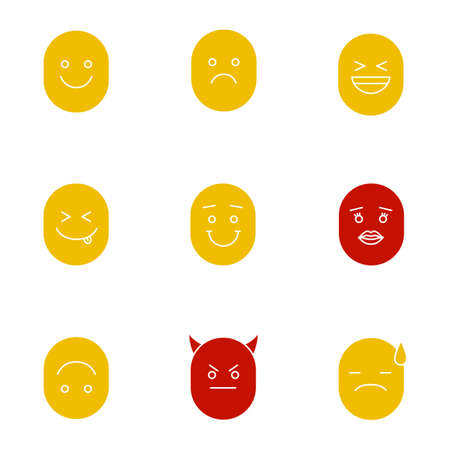 Faces with different emotions icon.