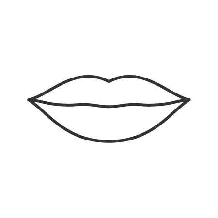 입술 선형 아이콘입니다. 얇은 줄 그림입니다. 윤곽선 기호. 벡터 절연 개요 그리기