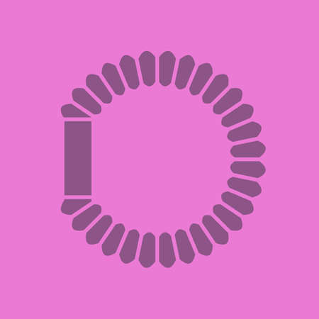 Hair scrunchy glyph color icon. Silhouette symbol. Negative space. Vector isolated illustration