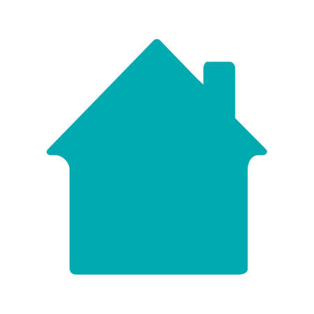 House, cottage glyph color icon. Home building. Silhouette symbol on white background. Negative space. Vector illustration