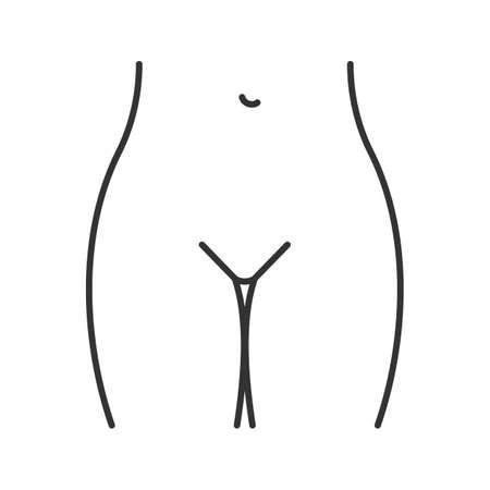 Bikini zone linear icon. Ilustração Vetorial