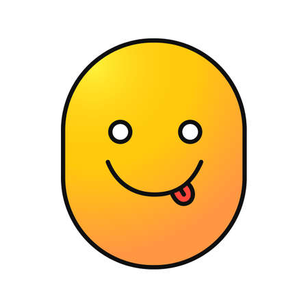 Yummy emoticon icon. Illustration