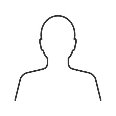 User linear icon. Human head. Thin line illustration. Profile contour symbol. Vector isolated outline drawing