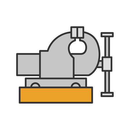 Bench vice color icon. Leg vice. Isolated vector illustration on white