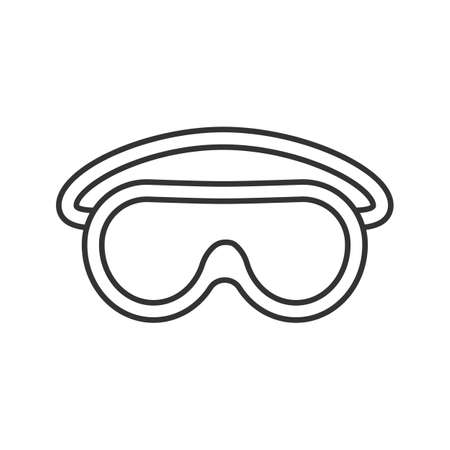 Goggles linear icon. Protective spectacles. Thin line illustration. Contour symbol. Vector isolated outline drawing