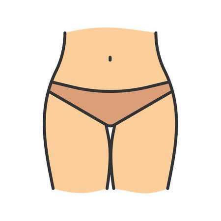 Bikini zone color icon. Isolated vector illustration