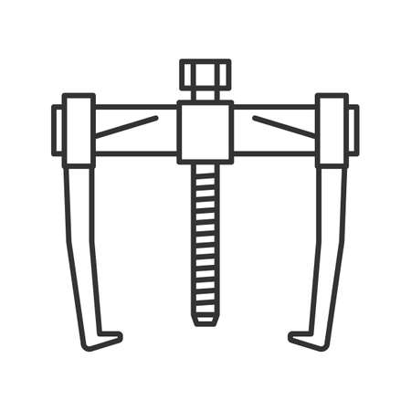 Bearing puller linear icon. Thin line illustration. Contour symbol. Vector isolated outline drawing Illusztráció