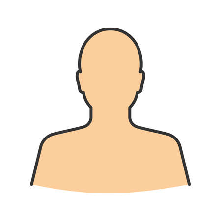 Man's silhouette color icon. User. Isolated vector illustration Illustration