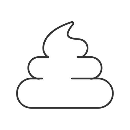 Poop linear icon. Thin line illustration. Crap, turd. Contour symbol. Vector isolated outline drawing