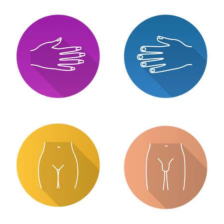 Body parts icons set Ilustração