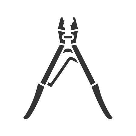 Crimping tool glyph icon