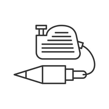 Plumb Bob Linear Icon Thin Line Illustration Vertical Plummet Contour Symbol Vector