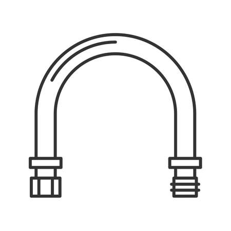 Pipe linear icon. Thin line illustration. Contour symbol. Vector isolated outline drawing Illustration