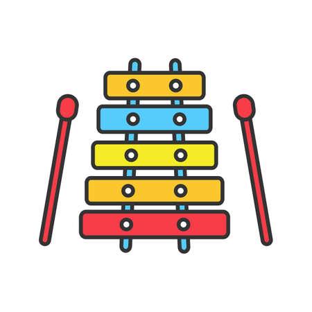 Icona a colori dello xilofono. Illustrazione vettoriale isolato