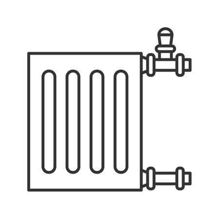 Radiator linear icon. Thin line illustration. Heater. Contour symbol. Vector isolated outline drawing