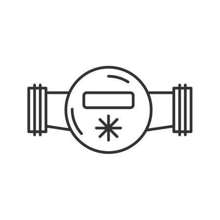Water meter linear icon. Thin line illustration. Contour symbol. Vector isolated outline drawing