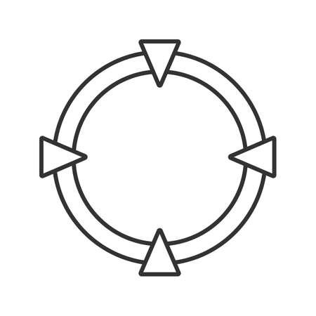 Cross hair linear icon vector illustration