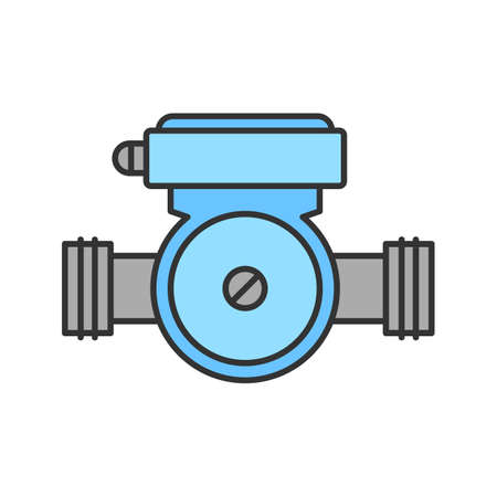 Water pump color icon. Isolated vector illustration