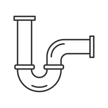 Pipe linear icon. Thin line illustration. Water pipe. Contour symbol. Vector isolated outline drawing