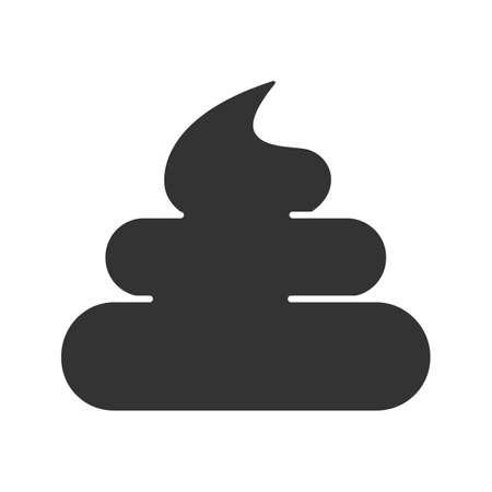 Poop glyph icon. Silhouette symbol. Crap, turd. Negative space. Vector isolated illustration Çizim