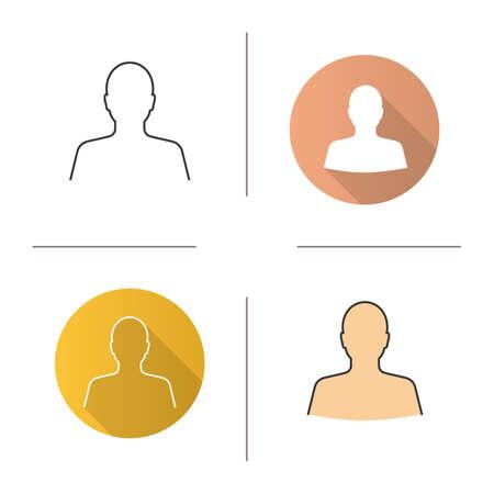Icona della sagoma dell'uomo. Design piatto, stili lineari e di colore. Profilo. Illustrazioni vettoriali isolate Archivio Fotografico - 95341922