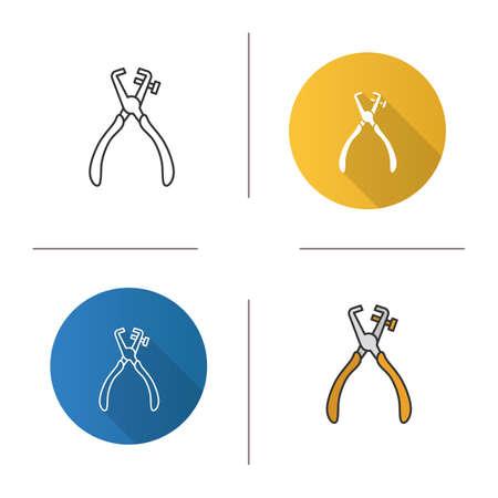 Stripping tool icon vector illustration set Illustration