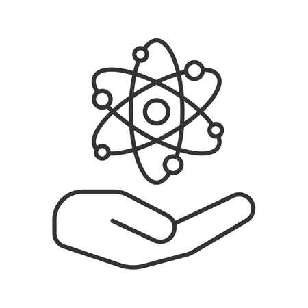 Ffnen Sie mit linearen Symbol Atomkraft Zeichen Standard-Bild - 95891639