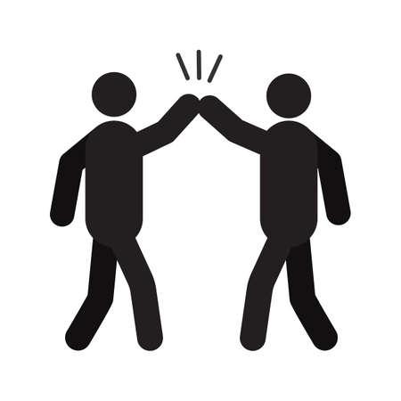 High Five Handzeichen Silhouette Symbol
