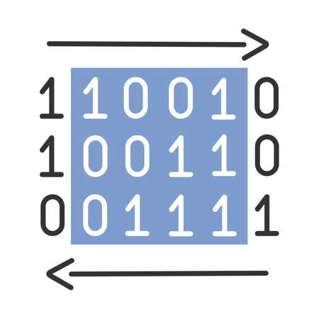 Data transfer color icon