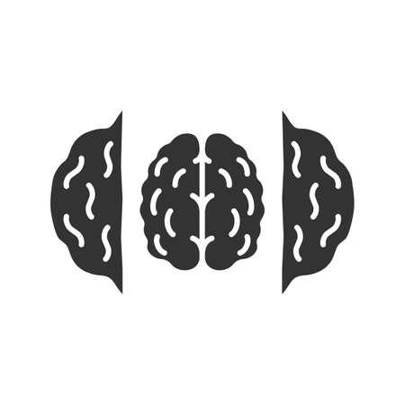 Opened walnut glyph icon