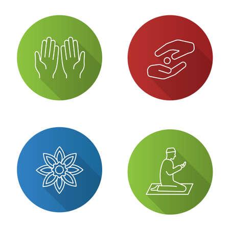 Religious culture glyph icon Illustration