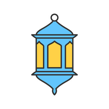 Lantern color icon. Wall lamp. Isolated vector illustration Illustration