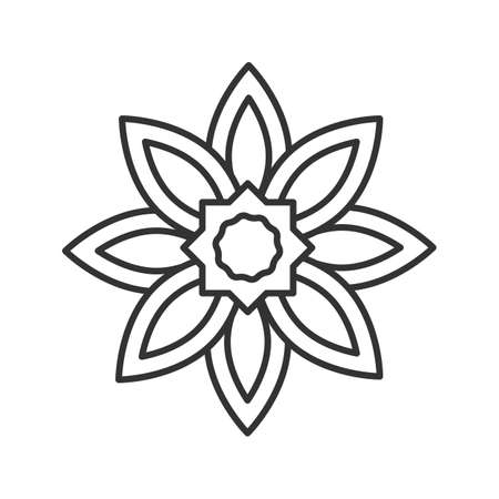 An Islamic star linear icon. Thin line illustration Vector isolated outline drawing