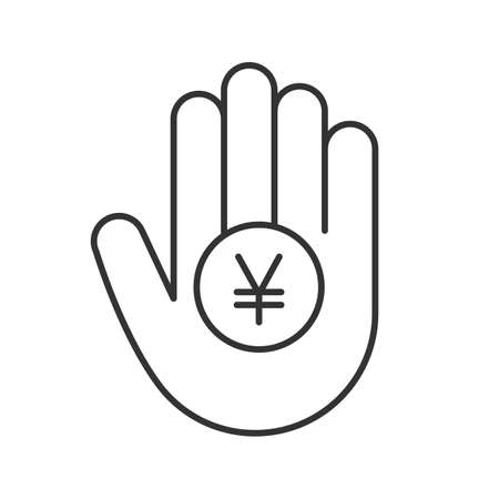 Yen Sign Linear Icon Thin Line Illustration China And Japan