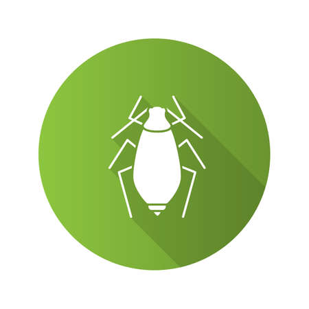 Aphid flat design long shadow glyph icons set. Illustration
