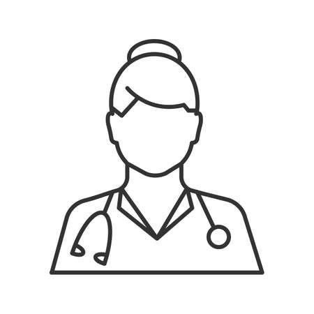 Doctor linear icon of Medical worker Vector isolated outline drawing