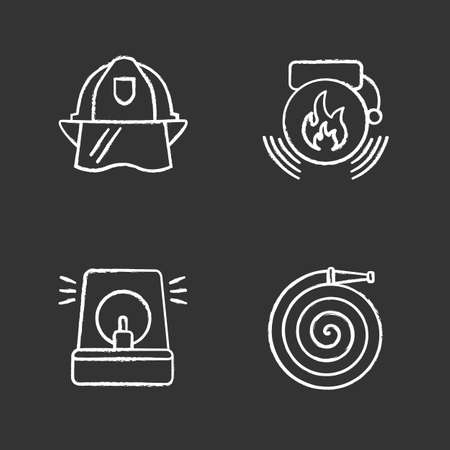 Firefighting icons set vector illustration