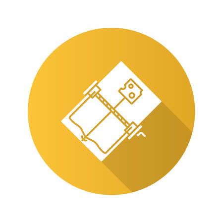 Mouse trap flat design long shadow glyph icon Illustration
