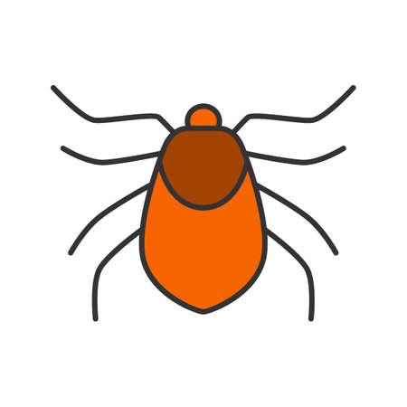 Mite color icon. Acari. Isolated vector illustration