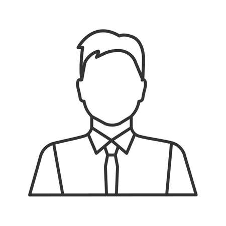 Office worker linear icon. Party maker, showman. Businessman, admin, manager. Thin line illustration. Contour symbol. Vector isolated outline drawing