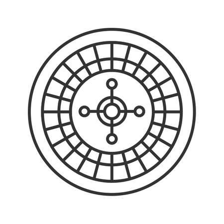 Roulette linear icon. Casino Thin line illustration. Contour symbol. Vector isolated outline drawing