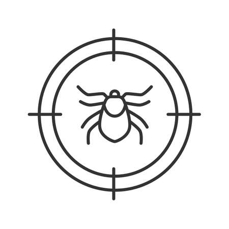 Mite target linear icon
