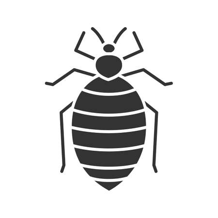Bed bug icon Illustration