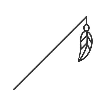Feather toy linear icon